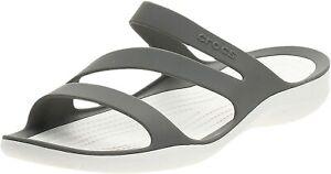 Crocs Women's girls Swiftwater - NEW WITH TAGS - Size UK 3 / EU 34 - 35 - Grey