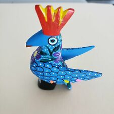 Rooster Mini Oaxacan Alebrije Wood Carving Mexican Hand Painted Chicken