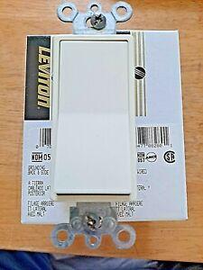 Lot of 4 Leviton Almond Decora 4-Way Rocker Light Switch 15A Quickwire 5604-2A