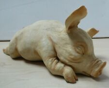 Natural Heritage by Holland Studio Crafts Pig Sleeping Ornament Y14 C39