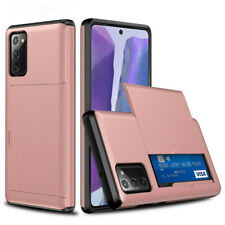 For Samsung Galaxy S20 FE 5G Hybrid Armor Shockproof Card Slot Wallet Case Cover