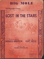 Big Mole 1949 Lost in the Stars Sheet Music