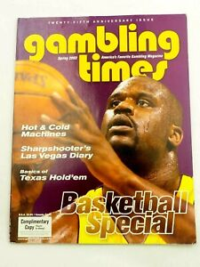 Gambling Times  Magazine 25th Anniversary Issue Shaquille Cover Spring 2002