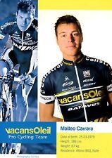 CYCLISME carte cycliste MATTEO CARRARA équipe VACANSOLEIL