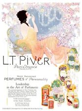 1923 Fred Packer woman flowers color art L.T. Piver perfume ad fine art print