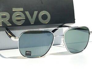 NEW! REVO HARRISON S85 Chrome w POLARIZED Green GLASS Lens Sunglass 1108 03 SG50