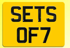 Set of 7 Gel Domed Black BIKE Number Plate Digits (Plates not included)