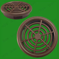 6x Brown Vivarium Reptile Push Fit Round Air Vents, 48mm, 44mm Hole, Ventilation