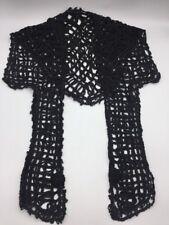 Antique Black FICHU Shawl Silk SOUTACHE Lace Passementerie VICTORIAN Steampunk