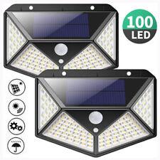 100 LED Solar Power PIR датчик движения световой, уличный садовый настенный светильник с водонепроницаемый
