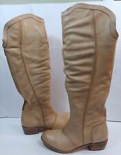 Matisse Camel Tan Beige Brazil Leather Knee Tall Riding Slouch BOOTS Women's 6M
