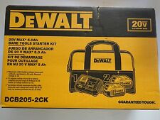 DEWALT DCB205-2CK 20V 20 Volt Max 2 PC DCB205 DCB115 Charger + BAG NEW