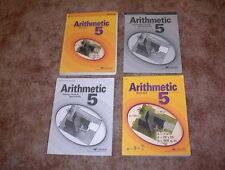 ABEKA 5th GRADE ARITHMETIC SET of 4 Books   CLEAN BOOKS NO MISSING PAGES