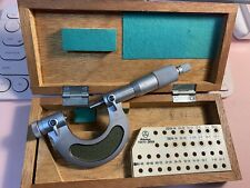 Nice Mitutoyo 0 1 Thread Micrometer With Case Machinist Pitch Micrometer