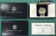 1991 S United Sates USO Proof Silver Dollar w/ Box & COA