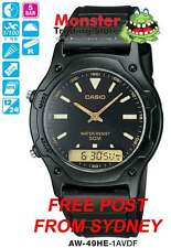 AUSSIE SELLER CASIO DUALTIME STOPWATC AW49H AW49HE AW-49HE-1AV 12 MONTH WARRANTY