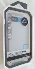 NEW Incipio Edge Pro Hard Shell Slider Case Cyan Gray for iPhone 5 Blue Grey