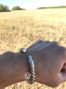 Gotland, Bracelet, Solid Silver Sterling 925 heavy 2,15 oz-61gr Viking Bracelet