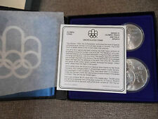 1976-Canada-Montreal-Olympic-Games set-4) Coin Set Series IV (4) w/  BOX/COA