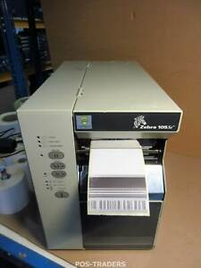 Zebra 105SE 105-514-00000 Thermal Barcode Label Printer Serial Drucker PRINTS OK