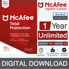 McAfee Total Protection 2018 1 PC Download Version Only