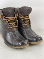 Sperry Saltwater Duck Boots Womens dark brown leather US 6.5 M Booties