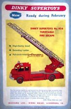 DINKY TOYS No.956 Turntable Fire Escape Print AD - Original 1958 Car Toy ADVERT