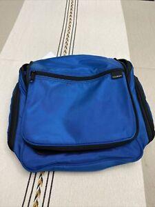 LL Bean Personal Large Organizer Travel Hanging Toiletry Bag Blue