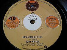 """Tony Wilson-New York City Life 7"""" Vinilo"""