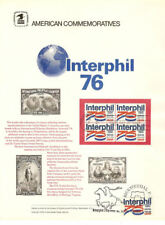 #61 13c Interphil 76 #1632  USPS Commemorative Stamp Panel w/FDC on 5