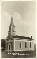 West Almond NY ME Church c1910 Real Photo Postcard