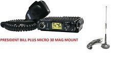 President BILL CB Radio AM FM Multi Norms UK EU 4X4 PLUS MICRO 30 MAG MOUNT