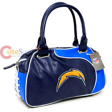 NFL San Diego Chargers Bowler Bag Purse Hand Bag NFL Team Logo Women Bag