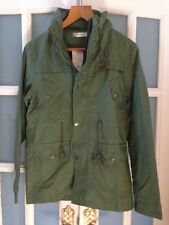 BNWT MENS MILITARY TRENDY SMART SAGE GREEN ARMY LIGHTWEIGHT TRENCH COAT  SIZE S