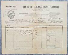 1900 Malta to Tunisia Paquebot Post Document + Captain's signature