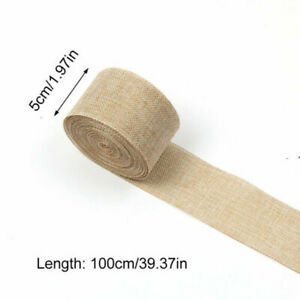 10 Meters Home Centerpieces Party Burlap Craft Hessian Ribbon Rustic Roll DIY