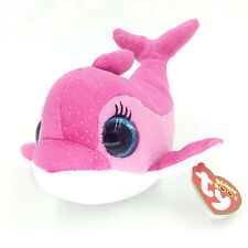 """Ty Beanie Boos 6"""" Cute Sparkles Pink Dolphin Stuffed Animals Toys Kids Gift"""