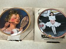 2 Knowles Norman Rockwell Plates,Making Believe At The Mirror; Sitting Pretty