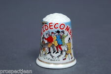 Widecombe Song Devon China Thimble B/134