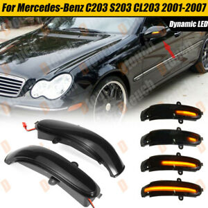 For Mercedes Benz C-Class W203 2000-2007 LED Mirror Sequential Turn Signal Light