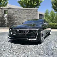 Black 1/18 Cadillac Escala Diecast Metal Car Model Gift Collection Ornaments NEW