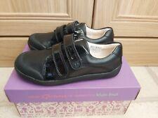 Brand New Girls Clarks Black Leather School Shoes Size 11.5F LilfolkBel