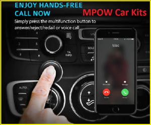 Mpow Bluetooth Car Kit Hands-Free Calling Streambot Audio Receiver Wireless New.