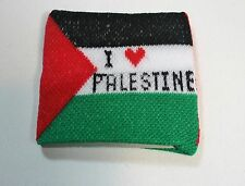 "New ""I Love Palestine"" Flag Cloth Elastic Sweat Wristband - One size fits all"