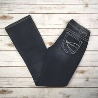 Womens Silver Jeans Mid Rise Aiko Bootcut Dark Stretch Jean 28 29 NWD
