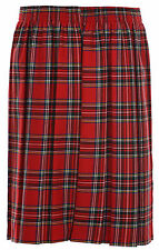 Ages 2-20 Girls School Skirt Box Pleated Formal All Around Elasticated Black