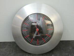 (9711) Seltene Vintage Junghans ATO-MAT S Wanduhr Aluminium