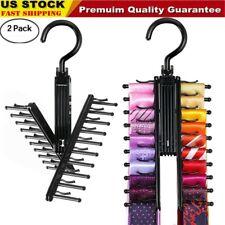 2 Pack Cross X Hangers Tie Belt Rack Organizer Hanger Non-Slip Clips Holder b0