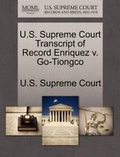 U.S. Supreme Court Transcript Of Record Enriquez V. Go-Tiongco