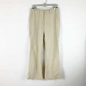 Patagonia womens tan nylon roll up pants 8